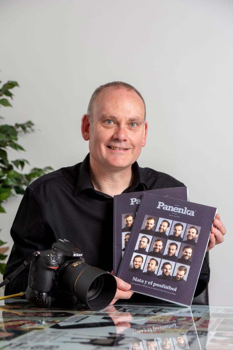 Photographer Darren Robinson took pictures of footballer Juan Mata for Spanish magazine Panenka